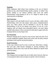 Policy Manual Template by Sle Policy Manual Template 7 Documents In Pdf Word