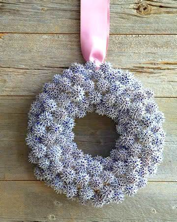 martha stewart christmas crafts for adults snowflake wreath sweet gum balls martha stewart wreath