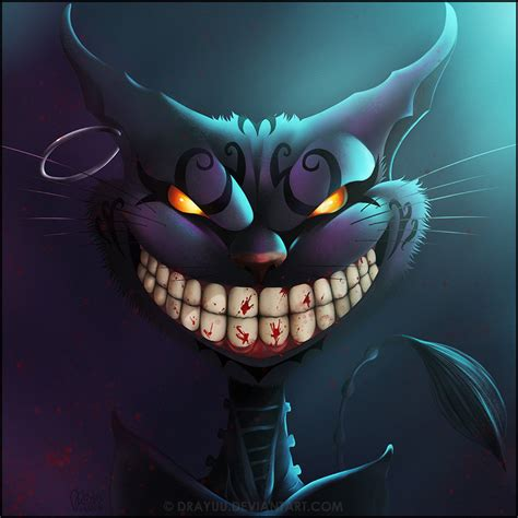Cheshire Cat Blue madness cheshire cat by drayuu on deviantart