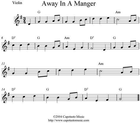 printable christmas violin sheet music free away in a manger free christmas violin sheet music notes