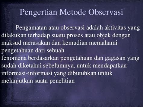 Psikologi Observasi metode observasi psikologi umum