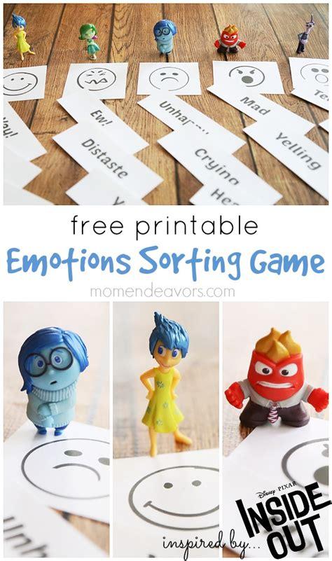 printable emotion games free printable emotions sorting game inspired by disney