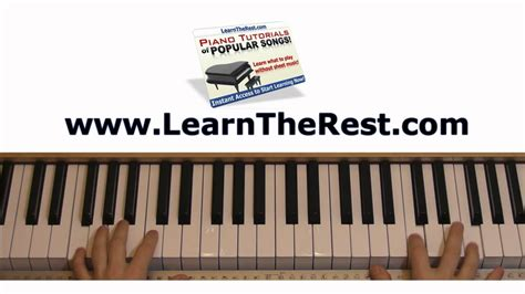 tutorial keyboard fall for you how to play fall for you by secondhand serenade piano