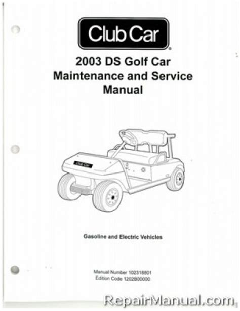 service manual electric and cars manual 2003 ford zx2 spare parts catalogs how to install 2003 club car ds golf car gas and electric service manual