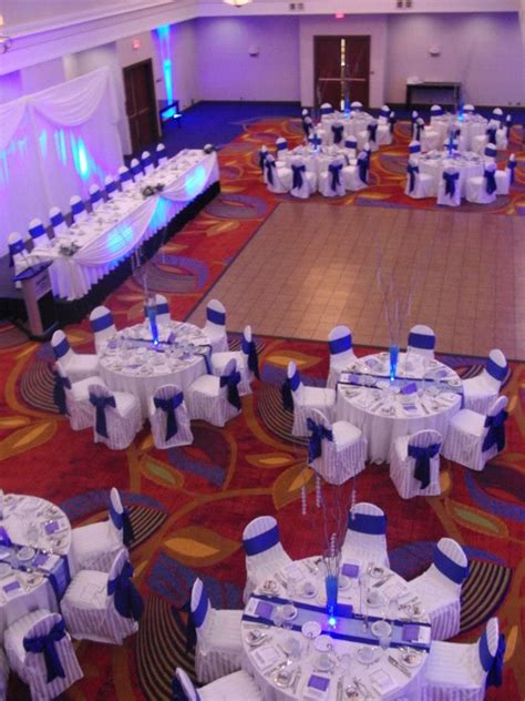 our wedding reception ottawa marriott hotel cobalt blue and white my wedding