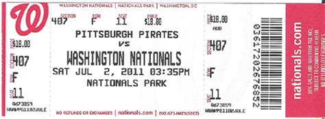 Washington Nationals Box Office 2011 tickets 171 the ballpark guide
