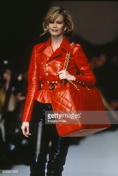 Catwalk To Carpet Schiffer In Chanel by Schiffer Stock Photos And Pictures Getty Images