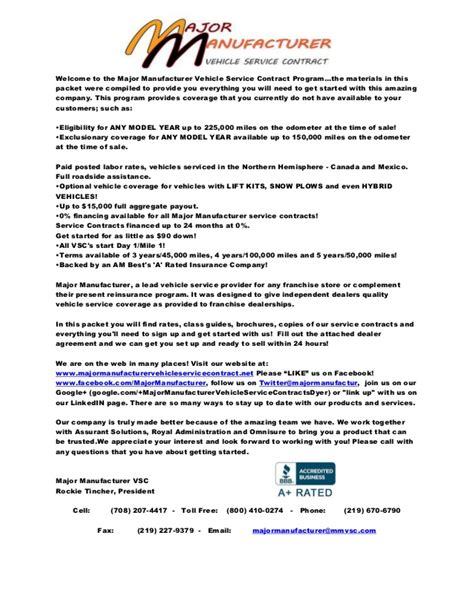 Contract Welcome Letter Welcome Letter Mmvsc