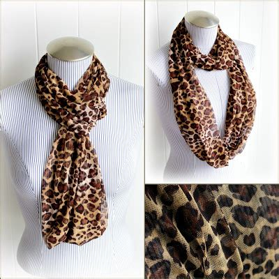 Trend Alert Leopard Print Scarves by Vintage Animal Print And Stripes Infinity