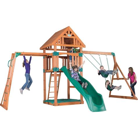 backyard discovery atlantis all cedar playset 65210com