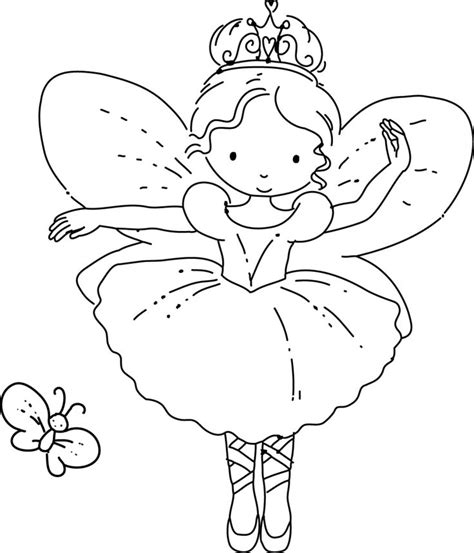 fairy ballerina coloring pages ballerina fairy coloring pages pinterest hand