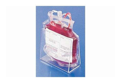mitchell plastics single blood bag holders clear pack of