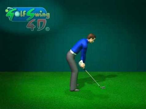 side view golf swing golf swing side view animation in slow motion youtube