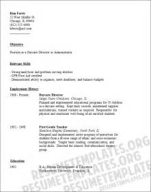 daycare worker resume template social work cv sles