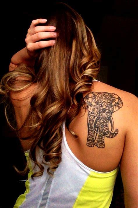 elephant tattoo for girl cool elephant tattoo ideas