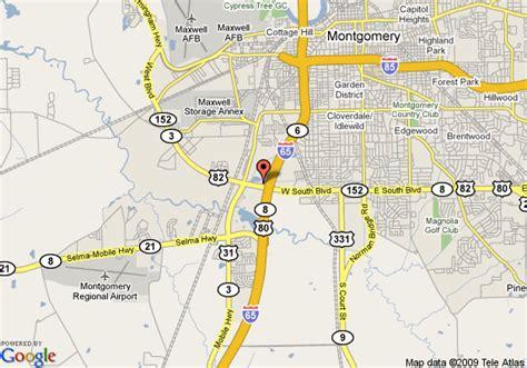 montgomery alabama map montgomery al on map afputra