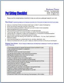 House Cleaning Residential House Cleaning Price List Pdf Pet Sitter Checklist Template