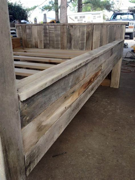 diy pallet bed frame wooden pallet bed frame
