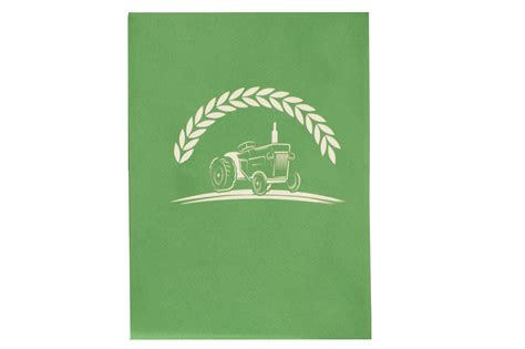 Pop Up Tractor Card Template by Pop Up Tree Card Lineply