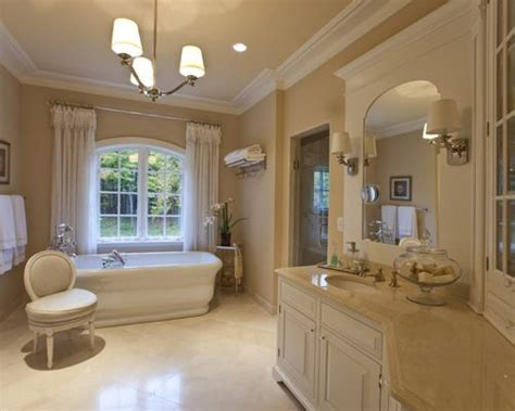Best Crema Marfil Bathroom Design Ideas & Remodel Pictures