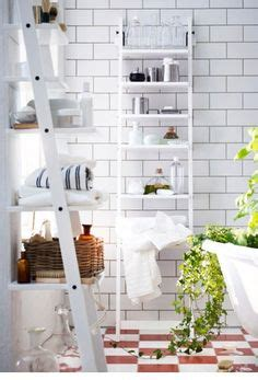 Hjalmaren Ladder Shelf by Hj 196 Lmaren Ladder Style Bathroom Shelving Will Help You Get