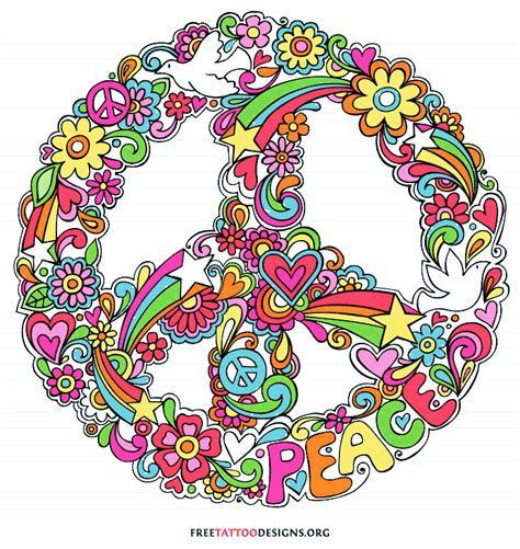 tattoo peace sign designs 50 peace sign tattoos