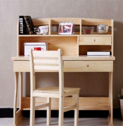 desain meja belajar anak minimalis dari kayu jati belanda
