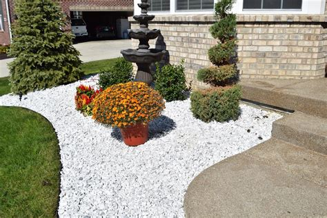 marble white rocks for landscaping manitoba design