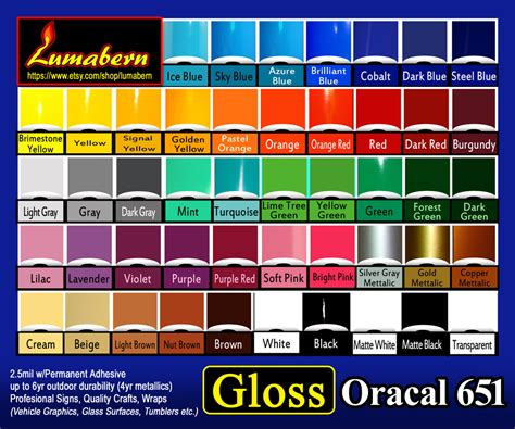 Sticker Oracal 651 Gloss Matte 5 rolls 12 quot gloss or matte adhesive backed vinyl sign