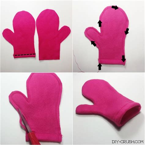 pattern sewing mittens free fleece mittens sewing pattern diy crush