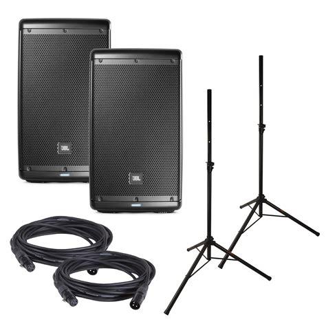 Speaker Jbl 10 jbl eon610 10 inch powered speakers w stands pssl