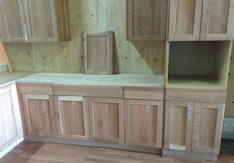 Unfinished Shaker Kitchen Cabinets Unfinished American Cherry Shaker Kitchen Cabinets