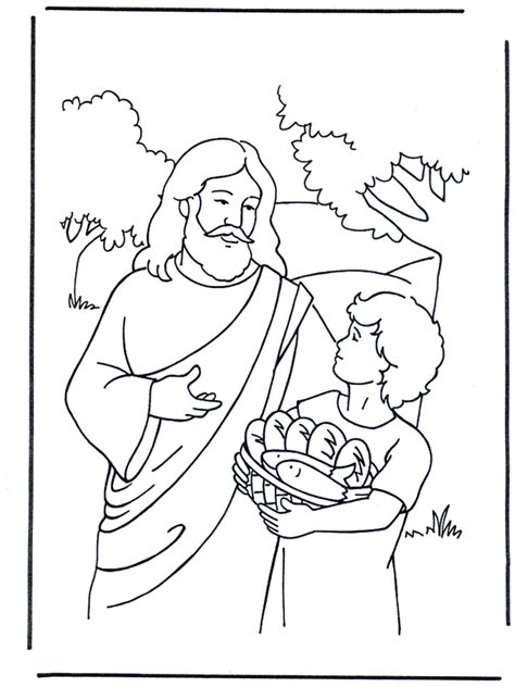 preschool coloring pages jesus 5 bread and 2 fish 4 awesome printables pinterest