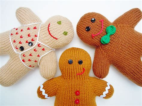 knitted gingerbread free pattern decorations knitting patterns in the loop knitting