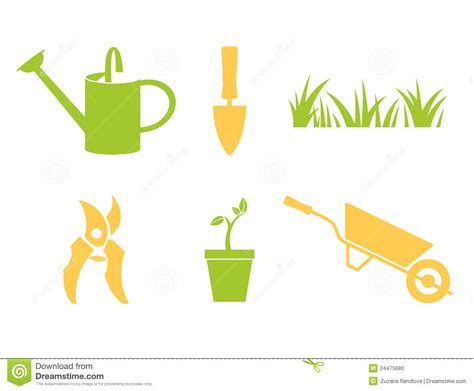 Garden Icon by Garden Icons Set Stock Photo Image 24475680