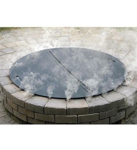 Heavy Duty Stainless Steel Round Fire Pit Cover Fire Pits Outdoor Firepit Cover