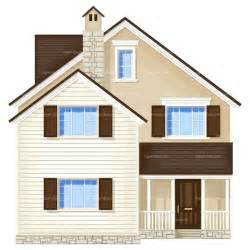 Design House Free No Clipart House Front View Royalty Free Vector Design