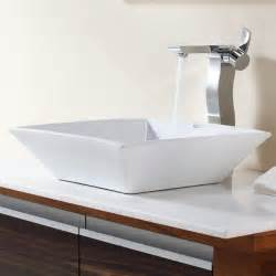 Modern Bathroom Sinks Cheap Kraus C Kcv 125 14600ch White Square Ceramic Sink And