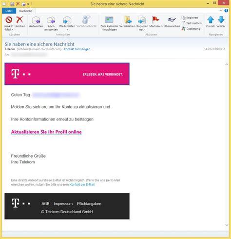 email telkom phishing sie haben eine sichere nachricht von telkom