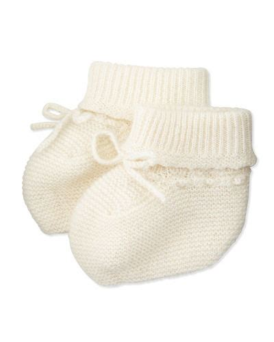 knitted baby booties size newborn to six months bonpoint knit wool baby booties size 3 6 months
