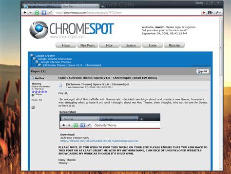 opera theme for google chrome chrome operav1 chromespot by thorny23