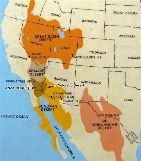 map us deserts usa map of deserts arabcooking me