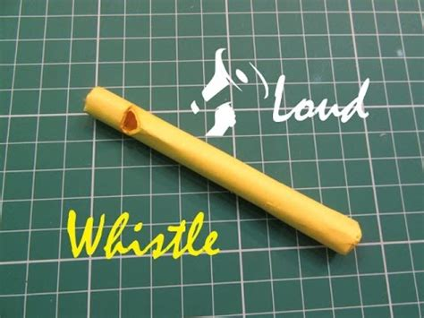 How To Make A Whistle Out Of Paper - how to make a simple paper whistle easy tutorials