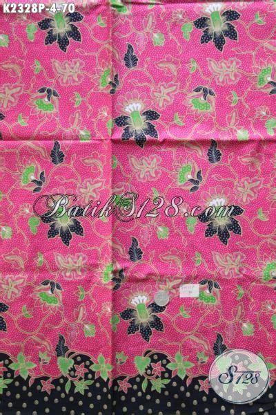 Dress Batik Bunga Pink jual kain batik motif bunga proses printing warna dasar