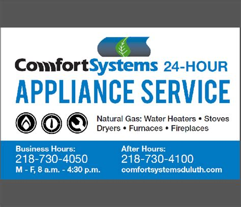 comfort systems duluth mn comfort systems appliances repair 520 garfield ave