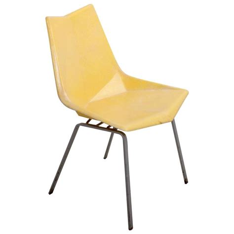 Paul Mccobb Origami Chair - paul mccobb yellow origami side chair on solid base