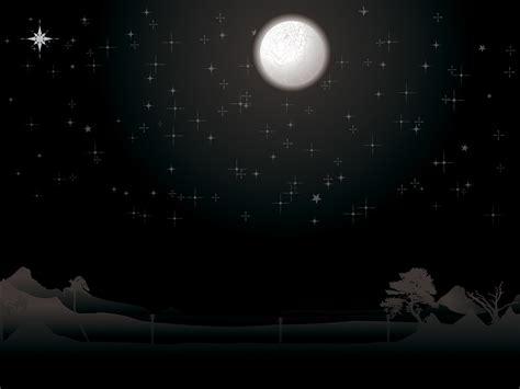 night moon and stars scene powerpoint templates black
