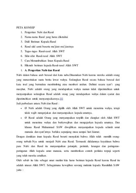 Pendagama Islam Kls Xii Kur 2013 Peta Konsep