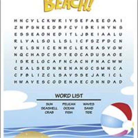 printable word search beach beach word search pictures to pin on pinterest pinsdaddy