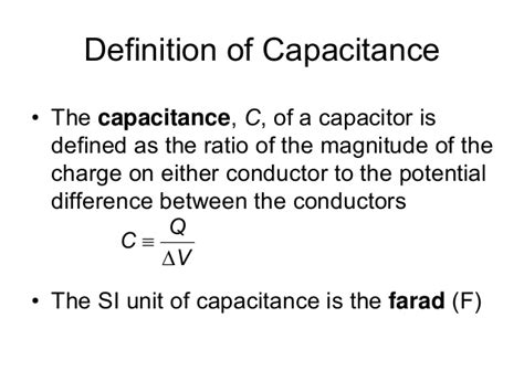 define electrostatic capacitor definition of capacitance